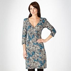 8a6b8f534d0 Mantaray Grey sketched floral wrap dress - Day dresses - Dresses - Women -  Debenhams Mobile