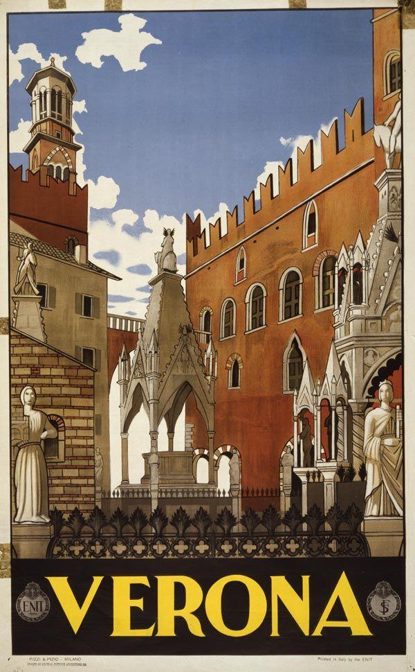 Cartaz vintage de Verona, Itália