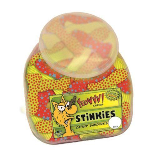 Yeowww! Fish Bowl with School of 51 Stinkies Catnip Toys ...