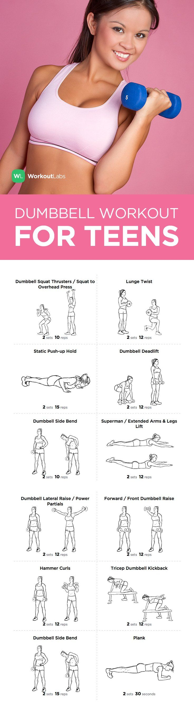 FREE PDF: Full Body Dumbbell Workout for Teen Girls and Guys – visit http://wlabs.me/1CucRxD to download!