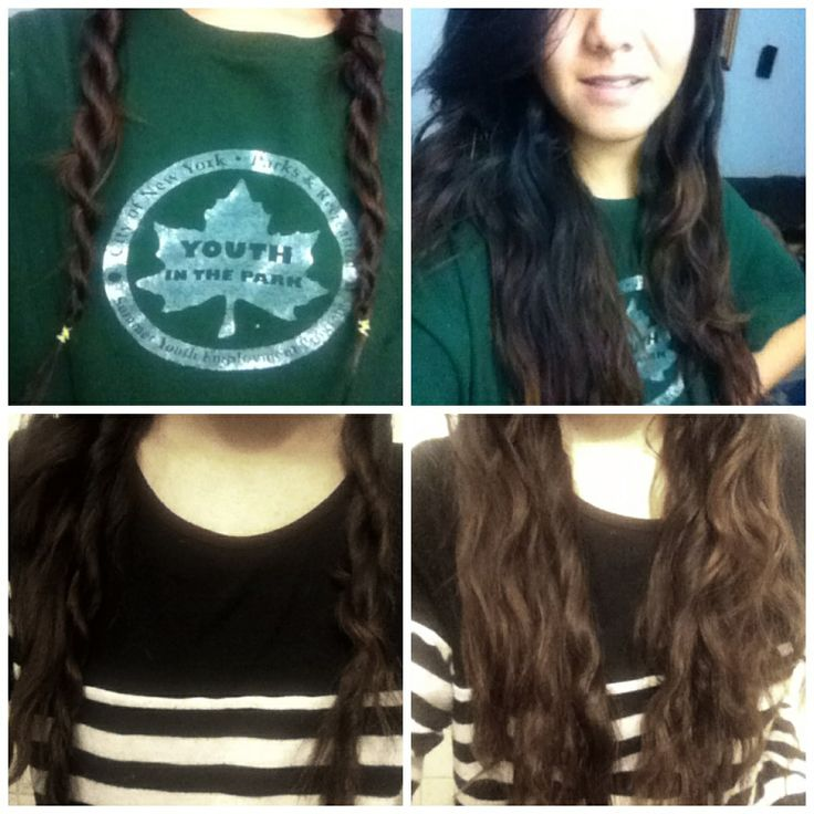 how to plait your hair to make it wavy