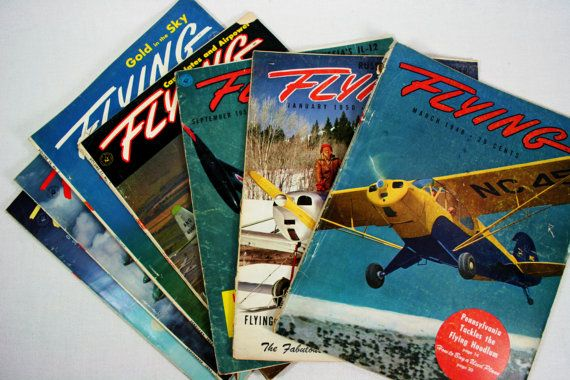 Vintage FLYING Airplane Aviation Flying by vintagefindsetcetera, $13.00