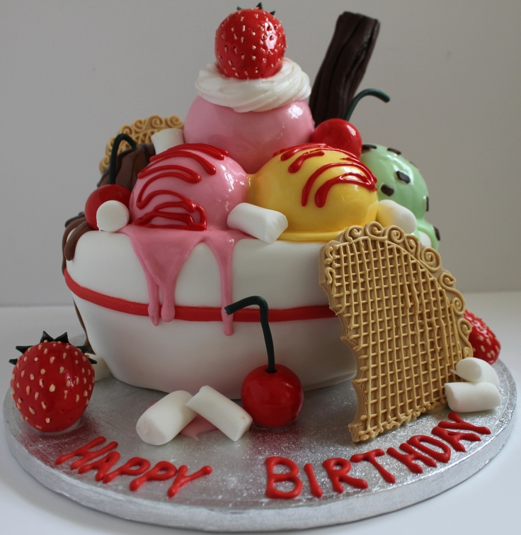 An Icecream Sundae birthday cake! Follow me on Facebook