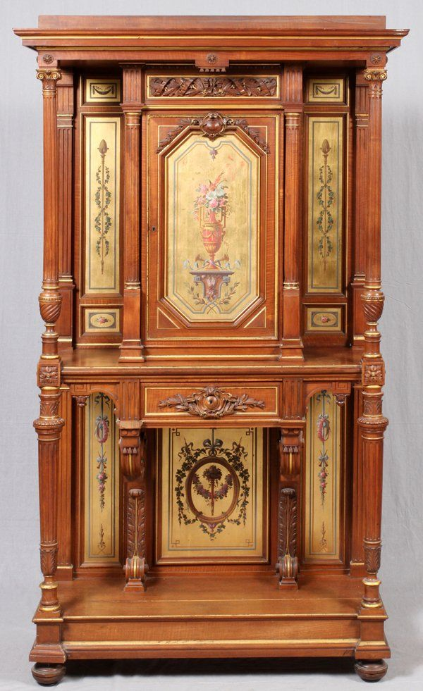 FRENCH LOUIS XVI STYLE HALL STAND 19TH C