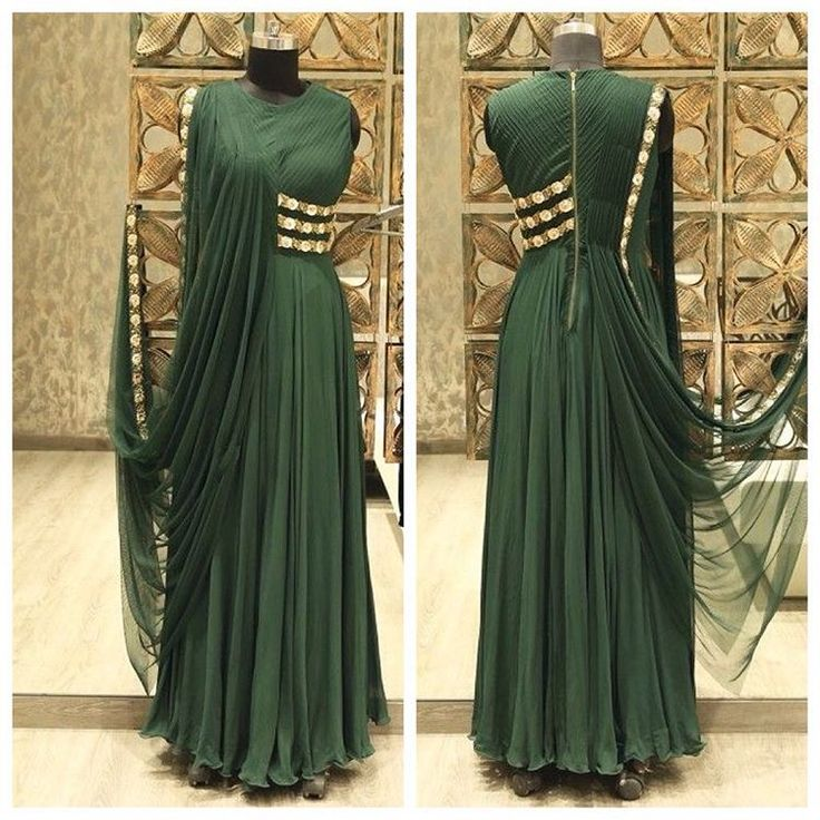 Bottle Green Gown Style Salwar Suit. View more collection at g3fashion.com To buy or for Price Whatsapp +91-9913433322.