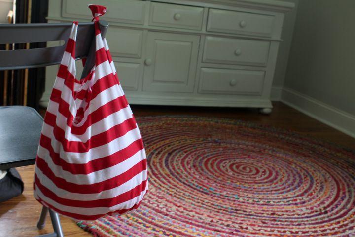 No sew t shirt bag tutorial 8