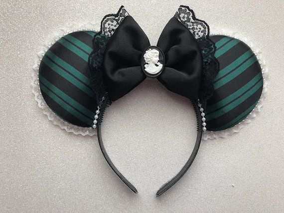 Haunted Mansion Fabric Bow inspired Mouse Ears