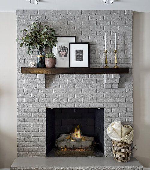 Pin On Shiplap: Pin On Fireplace Shiplap Painted Brick