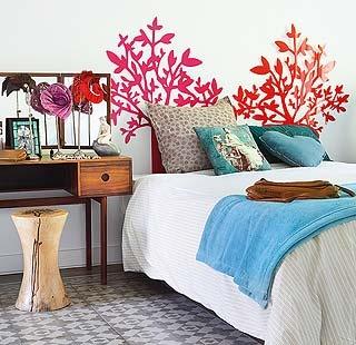 ¿Cabeceros originales?: Dreams Bedrooms, Wall Decals, Design Interiors, Interiors Design, Colors Headboards, Bedrooms Stuff, Bedrooms Decor, Girls Rooms, Bedrooms Ideas