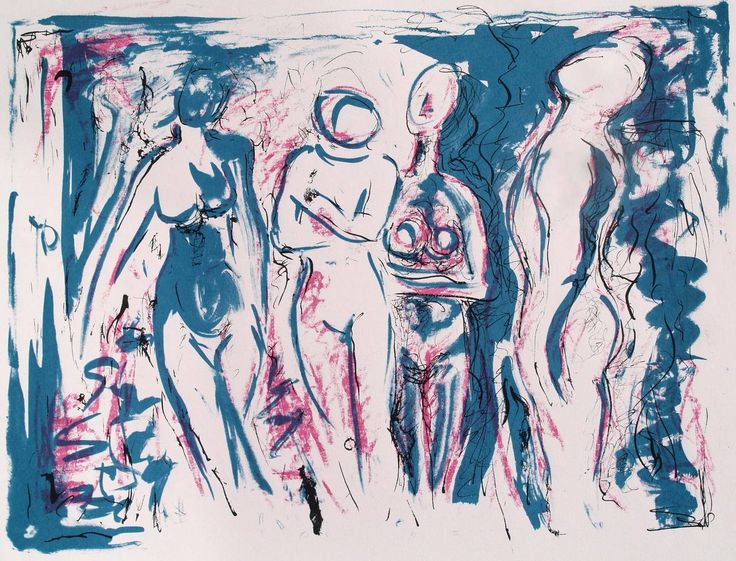 Four Nudes | From a unique collection of figurative prints at https://www.1stdibs.com/art/prints-works-on-paper/figurative-prints-works-on-paper/