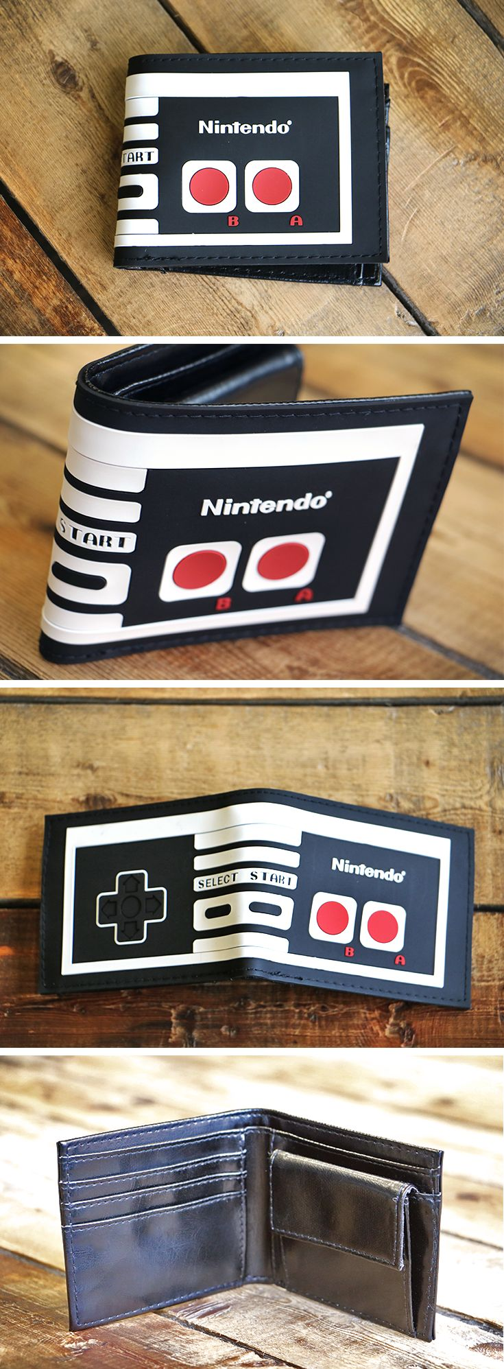NES Controller - Bi-fold Wallet