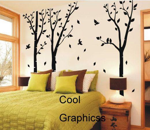 1000 id es sur le th me pochoirs de mur d 39 arbre sur pinterest murs d 3 - Pochoir pour mur de chambre ...