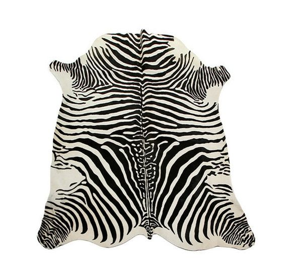 Cow skin rug #zebra print Color: pearl background, and black det Brand: Pure Measurements 2,06 cm x 1,89 cm  - The Glamour at Home - The distinction in his Business - Class ... #carpets #leopard #kuhfell