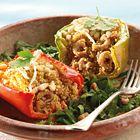 Gevuld met couscous en garnaaltjes