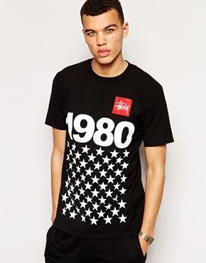 Stussy T-Shirt With 1980 Stars