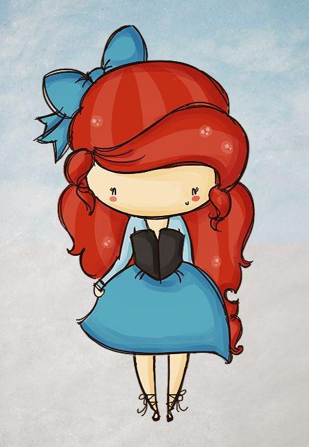 Disney Ariel Chibi | Com muitas bolhas temos agora uma Ariel chibi. Ficou bonitinha, a ...