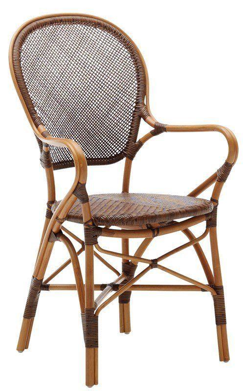 SIKA - Rossini Spisebordstol - Originals fra Sika Design - Vakker spisebordstol i antikkbrun med fine detaljer. Stolen er i naturmaterialet rattan som er utrolig slitesterkt og holdbart. Perfekt til spisestuen, utestuen eller hytta. Fås i flere flotte farger.