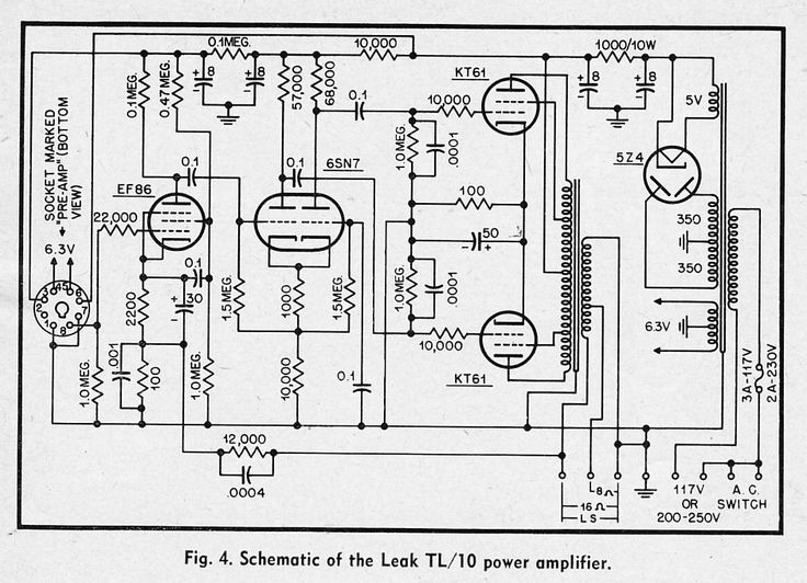 monoblock amplifier circuit diagram