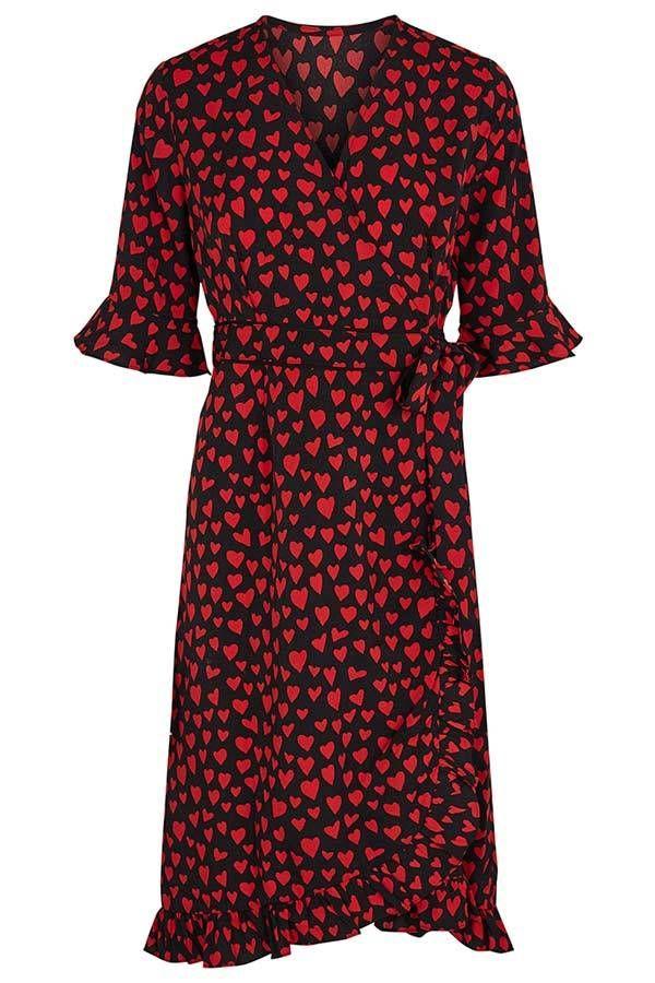 9789fb51 CO'COUTURE | HEARTBEAT WRAP DRESS | Kjole med hjerter – Lisen.dk