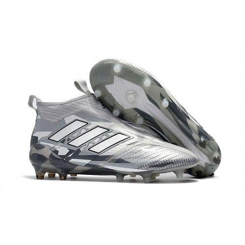 2017 Adidas ACE 17 PureControl FG Chaussures de football Blanc Gris