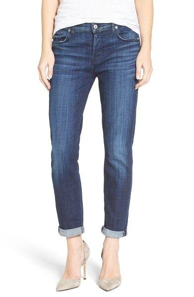 Main Image - 7 For All Mankind® 'Josefina' Boyfriend Jeans (Bordeaux Broken Twill)