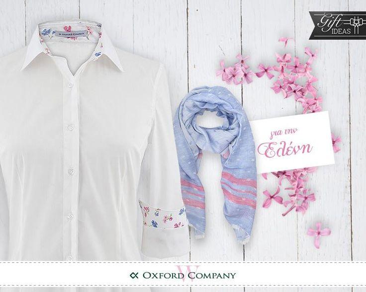 Gift ideas Πλησιάζει η γιορτή της Ελένης και σίγουρα θα εντυπωσιαστεί με ένα ανοιξιάτικο σύνολο από την Oxford Company!  Ελάτε να διαλέξουμε μαζί αυτό που θα της ταιριάζει ή πάρτε ιδέες από το e-shop μας www.oxfordcompany.gr