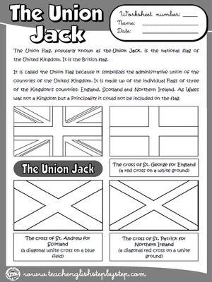 Юнион Джек - Рабочий лист (B & W версия)