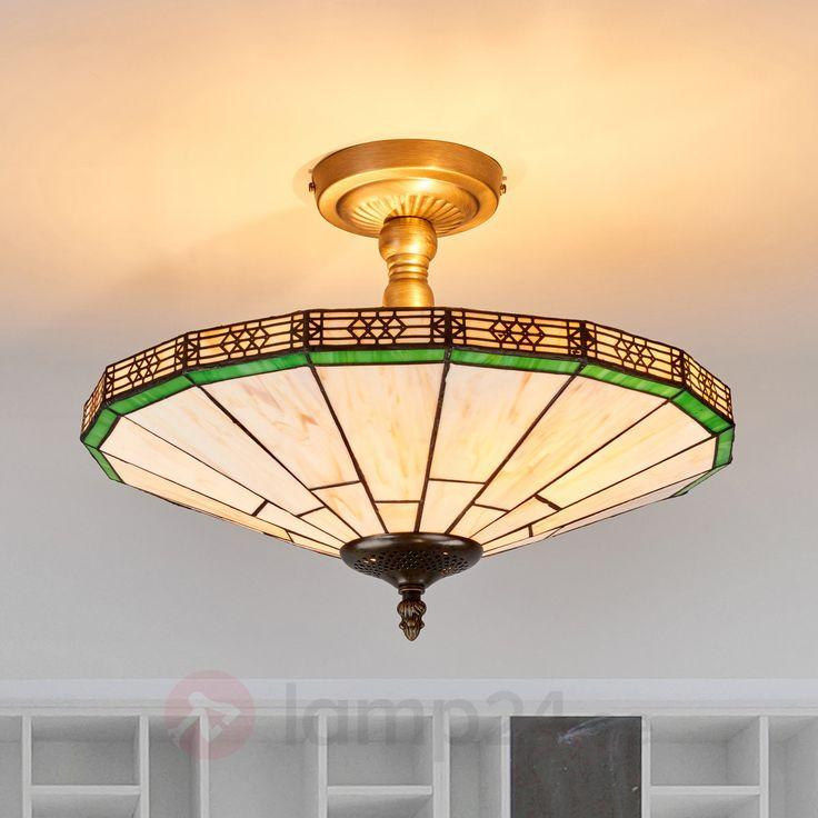 NEW YORK -  klassisk taklampa, Tiffany-stil beställ säkert & bekvämt på Lamp24.se.