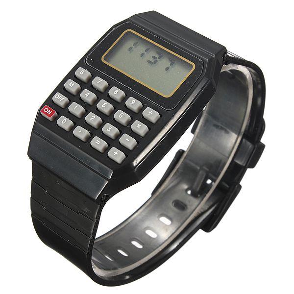 Children Silicone Date Multi-Purpose Electronic Wrist Calculator Watch