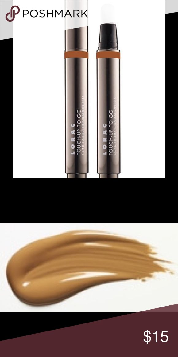 TOUCH-UP TO GO CONCEALER/  Foundation PEN in DEEP TOUCH-UP TO GO CONCEALER PEN New in box Color: DEEP Get an instant pick-me-up with LORAC's Touch-Up To Go Concealer/ Foundation Pen. This travel-friendly, versatile 2-in-1 formula conceals and covers imperfections with a built-in brush applicator for a long-wearing, natural finish. This oil, paraben and fragrance free formula is infused with Vitamins A and E, Acai Berry, White and Green Tea Touch-Up To Go provides medium coverage that is…