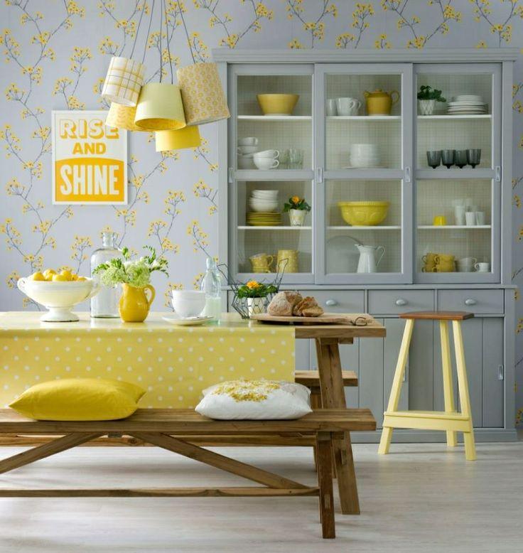 Blue Grey Yellow Kitchen: 1000+ Ideas About Gray Yellow On Pinterest