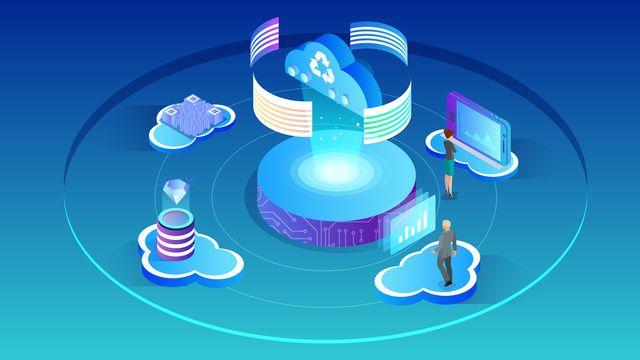 2 5d Big Data Cloud Computing Data Analysis Business Workplace
