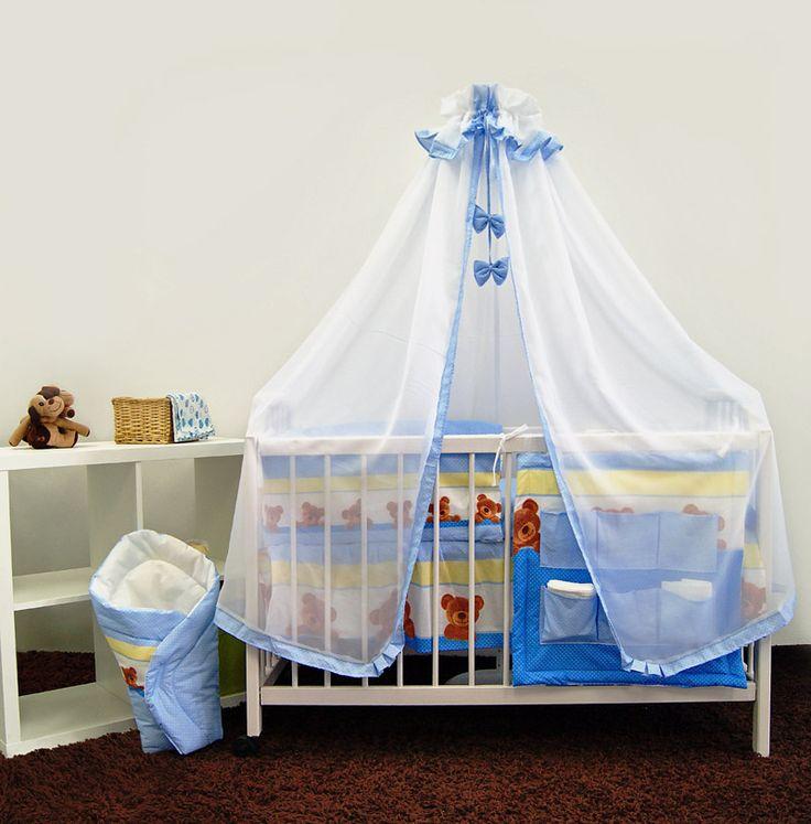 Zestaw pościeli dziecięcej z moskitierą