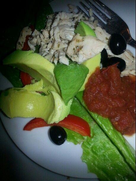 salad with salsa