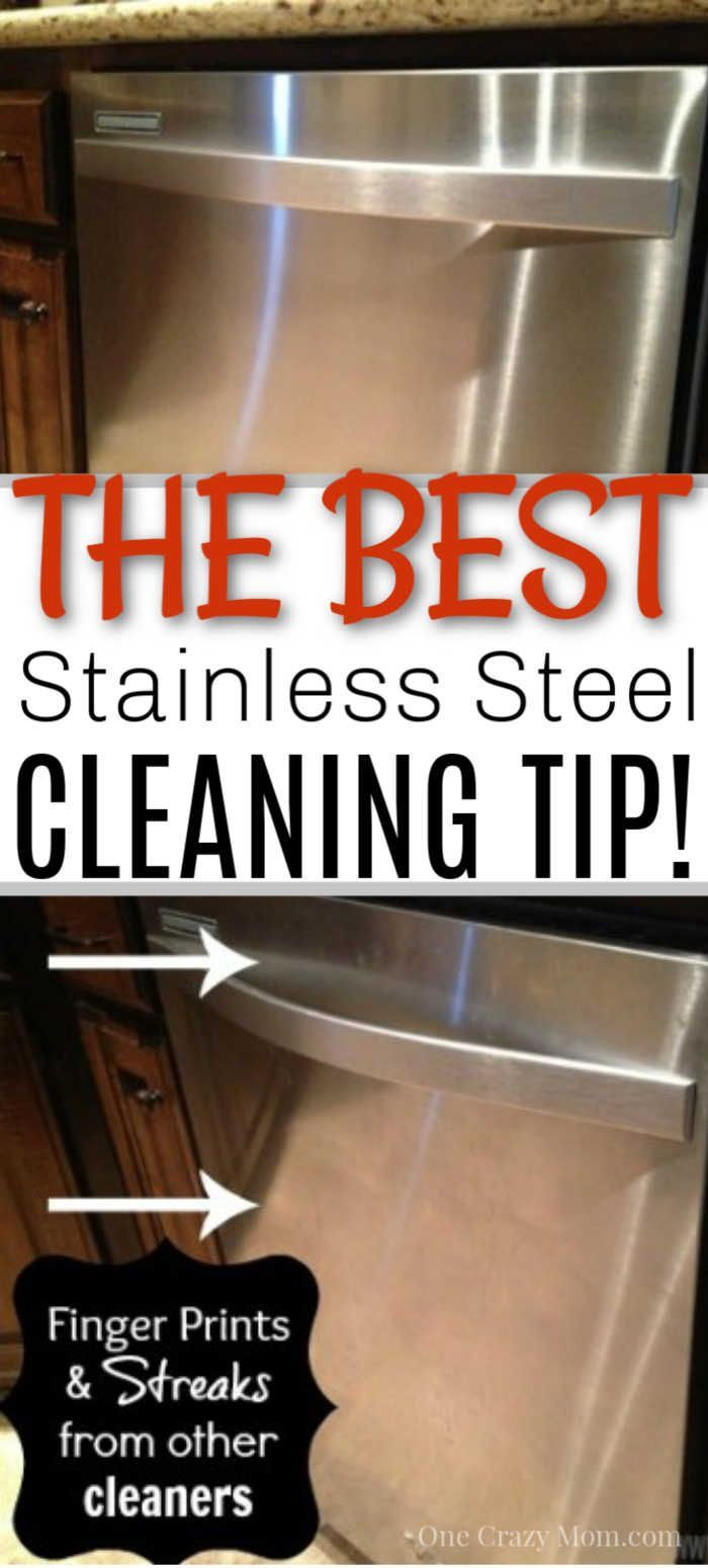 How To Clean Stainless Steel Cleaning Stainless Steel With 2 Ingredients Stainless Steel Cleaning Cleaning Stainless Steel Fridge Cleaning Stainless Steel Appliances