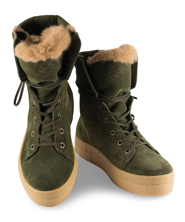 Grumman Flat Bootie for hiking in the woods with style... Khaki