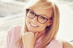 FACE SHAPE: ROUND If you have a round face (like Emma Bunton, seen here in an advert for Specsavers) you'll suit an angular frame.