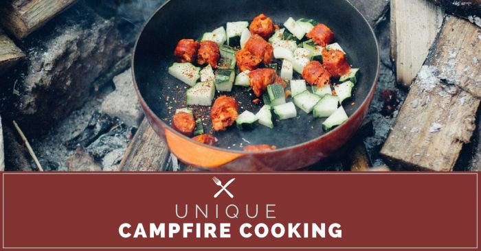 Are you looking for ways to be resourceful & impress your friends when curating cuisine at the #campsite? Then you have to check out these great unique #camping cooking ideas: http://highwaywestvacations.com/blog/unique-campfire-cooking-tips.
