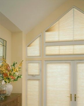 Close up of trapezoid and triangular windows - need blinds similar