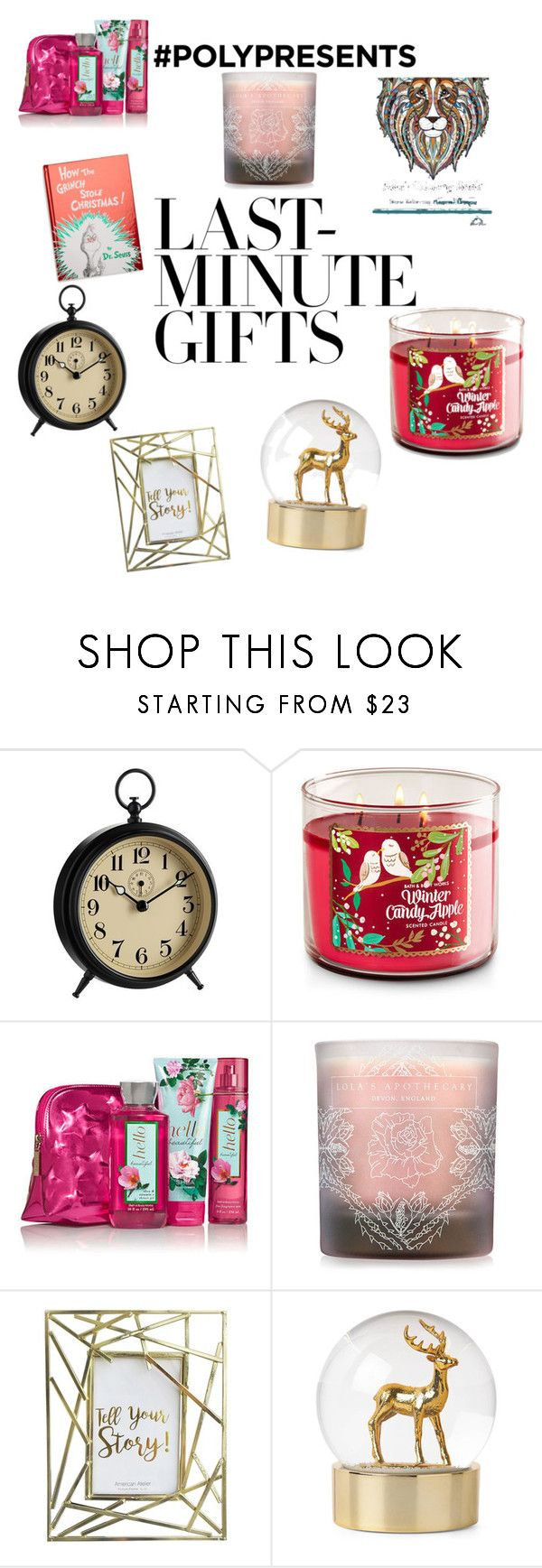"""#PolyPresents: Last-Minute Gifts"" by chandragarza ❤ liked on Polyvore featuring Pottery Barn, Lola's Apothecary, Jay Import, Penguin Random House, contestentry and polyPresents"