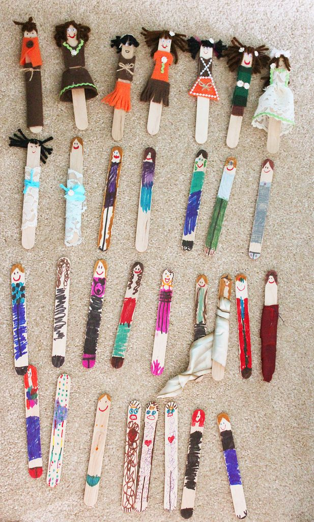 Work at a hospital with children? Worry Dolls from tongue depressors - large plain lolly sticks