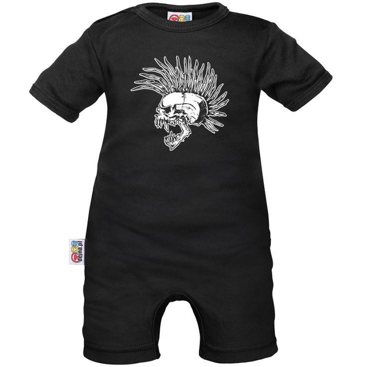 Barboteuse bébé : Crâne Punk  - Tête de mort - Family In Black