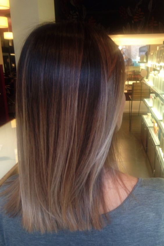 This Brown Sombre Mid Length Hair Looks So Polished & Professional!