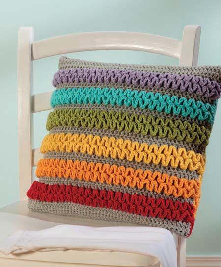 Almohadon arcoiris crochet