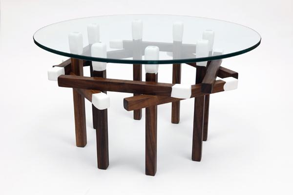 "Artless LA Matchstick Hexagon Side Table White | Alejandro Artigas | LENGTH:23""59 cm | WIDTH: 23""59 cm | HEIGHT:14.5""37 cm"