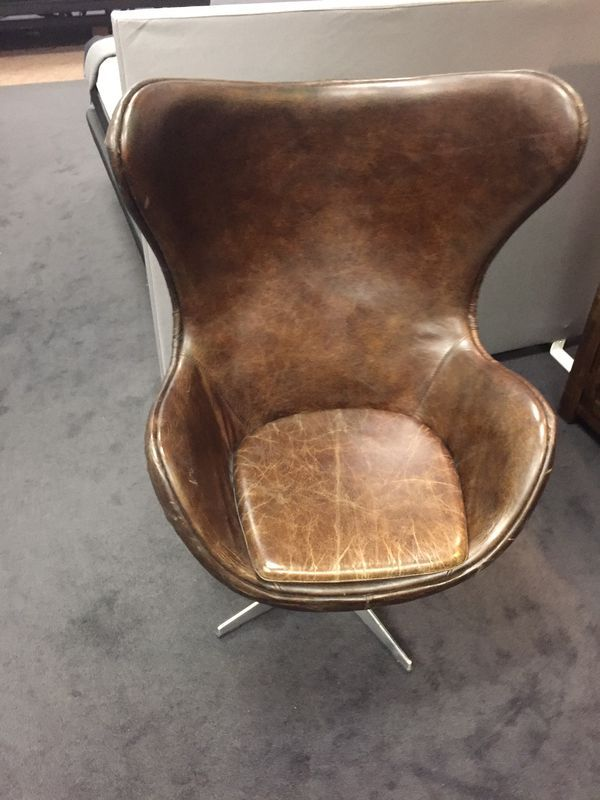 Strange Solomon Leather Egg Chair With Metal Back For Sale In Tempe Squirreltailoven Fun Painted Chair Ideas Images Squirreltailovenorg