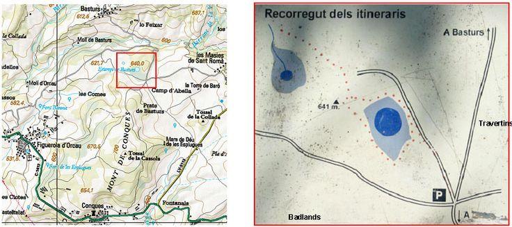 Mapa i croquis de la zona dels #estanyscarstics #basturs #pallarsjussa
