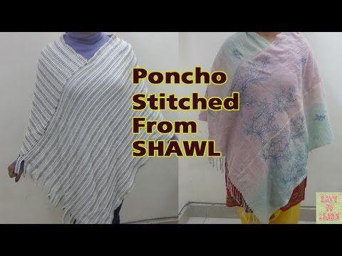 OLD SHAWL 2 CARDIGAN - EASY MAKING - YouTube