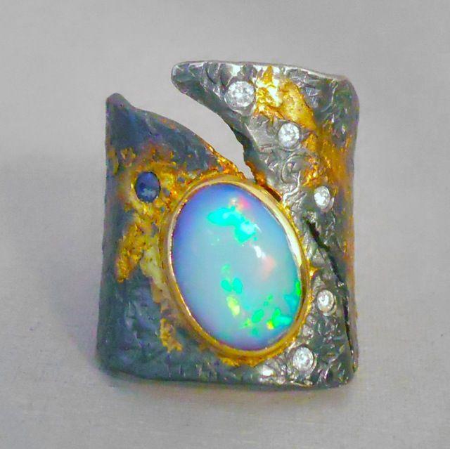 GOPH ALBITZ opal and diamond ring