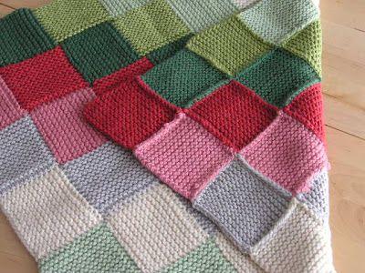 Garter Stitch Squares Baby Blanket Knitting /Crochet - Blankets Pinterest...